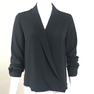 vince camuto front fold blouse